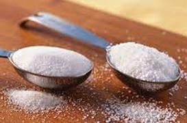 Excesso de sal e açúcar